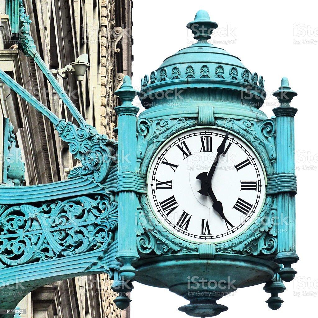 Chicago, Horloge, Vieux, Style gothique stock photo