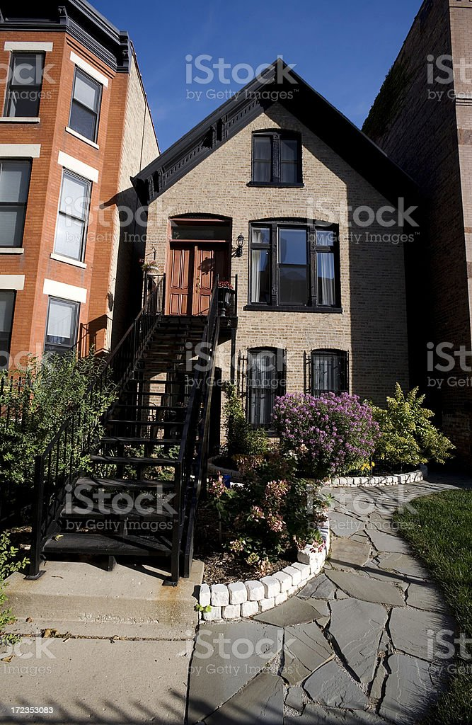 Chicago House in Lincoln Park District stock photo