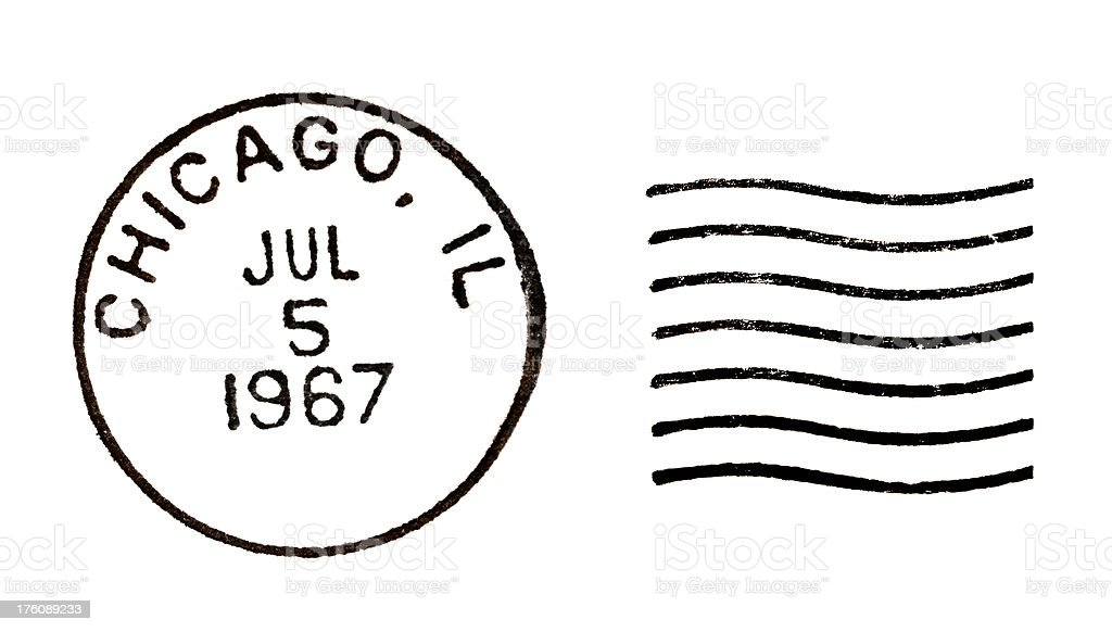 Chicago, IL Vintage Postmark stock photo