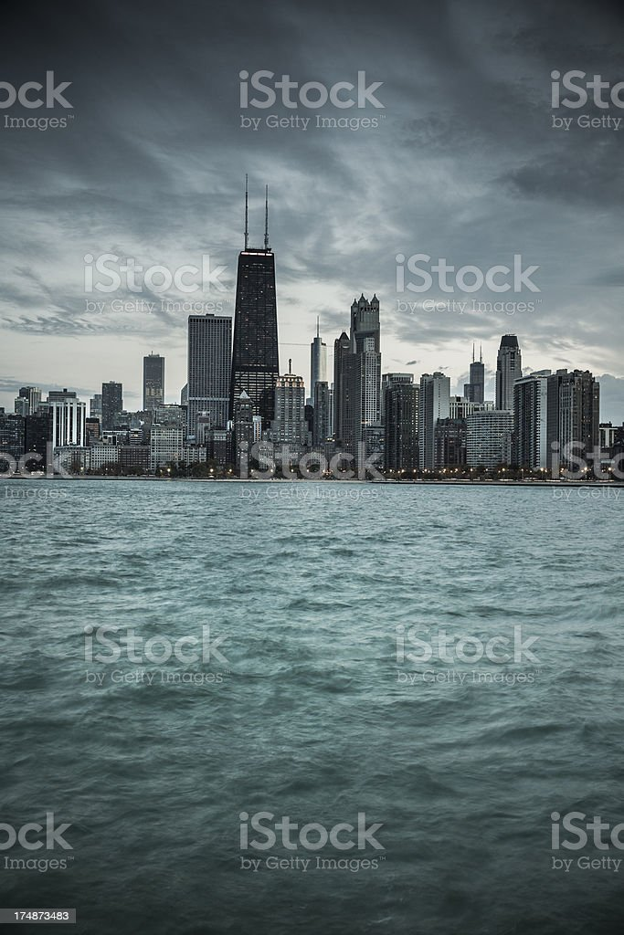 Chicago Illinois skyline royalty-free stock photo