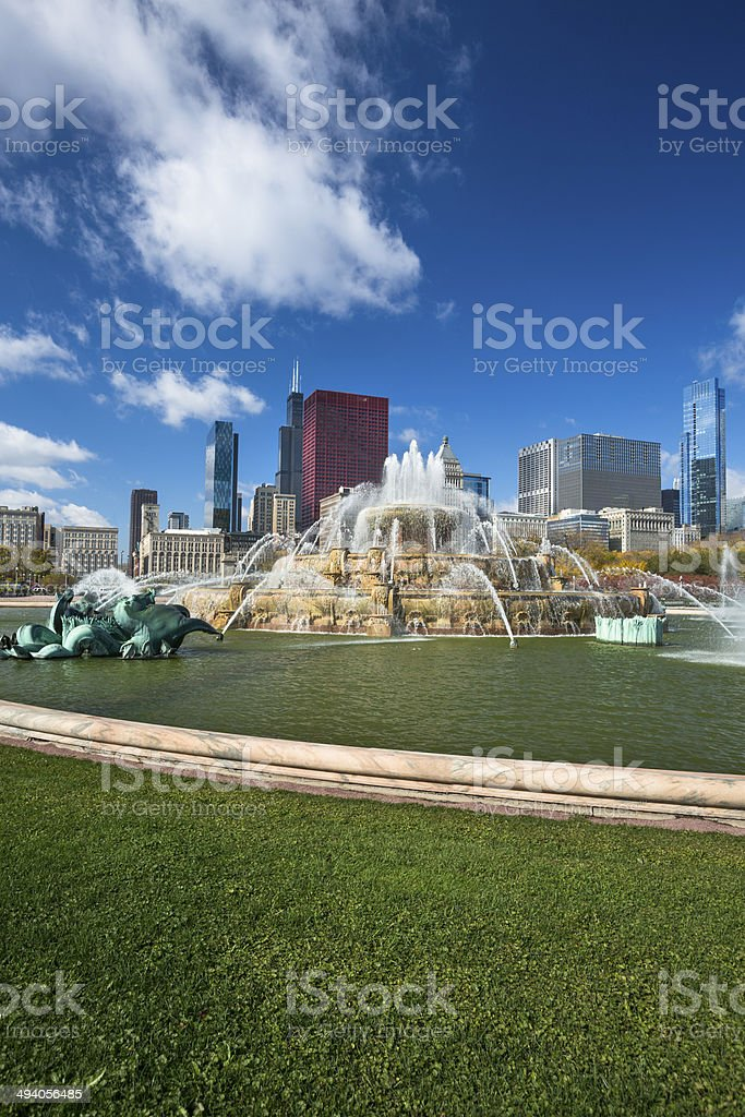 Chicago Illinois skyline stock photo