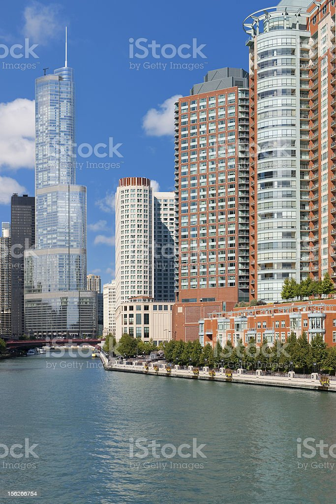 Chicago in september royalty-free stock photo