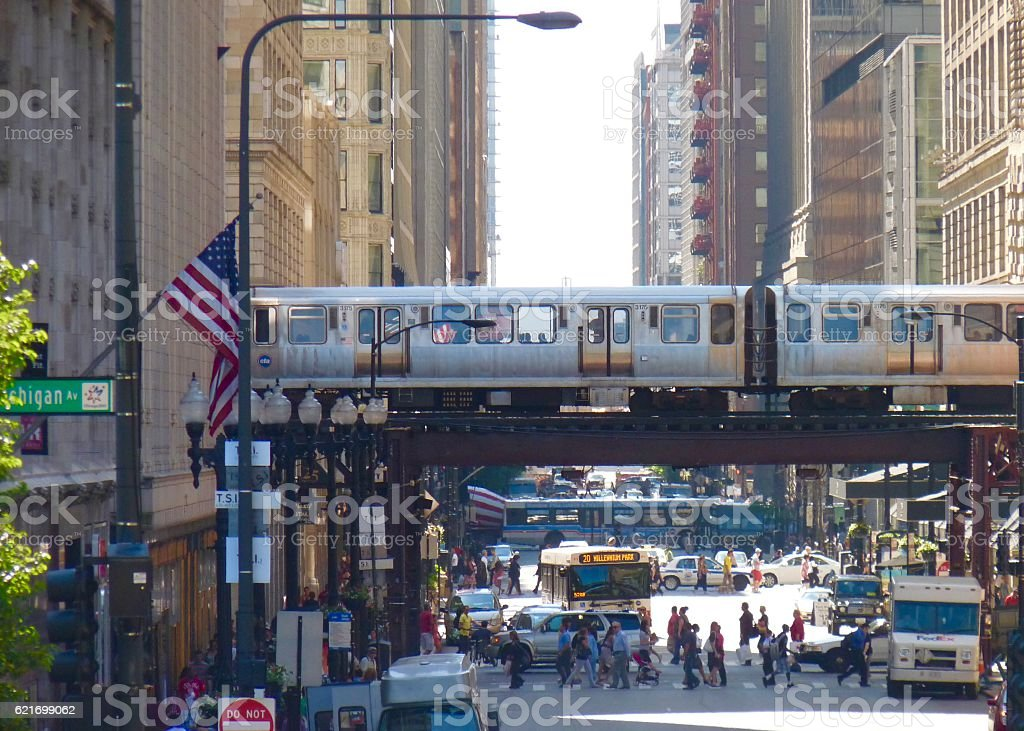 Chicago L stock photo