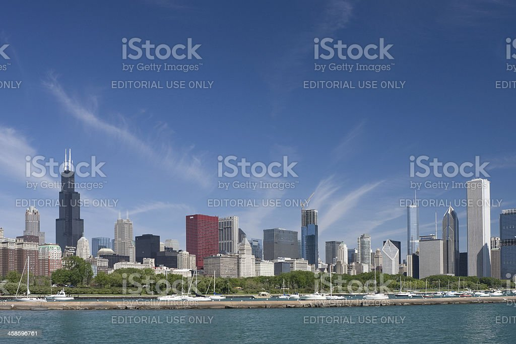 Chicago Lakefront and Skyline stock photo