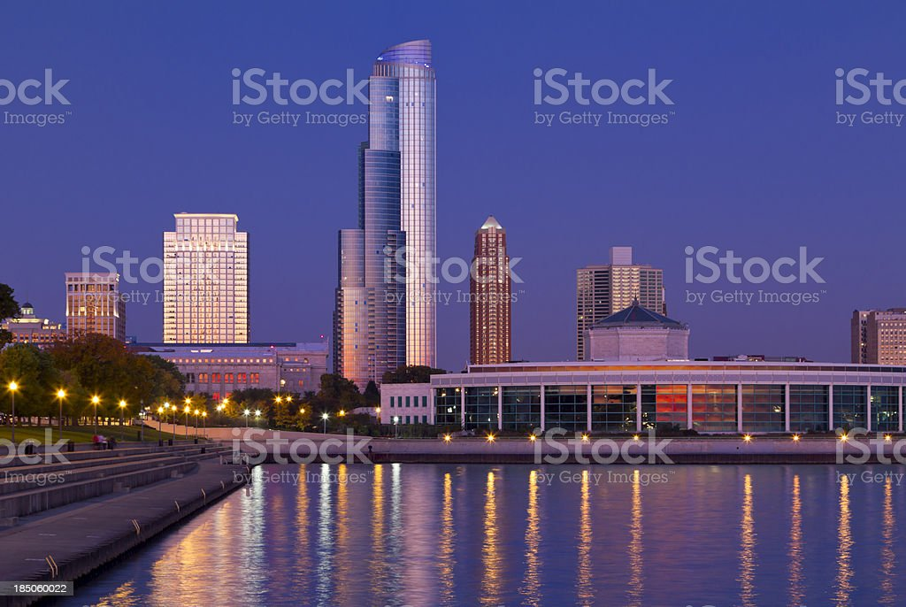 Chicago Lakefront at Dawn stock photo