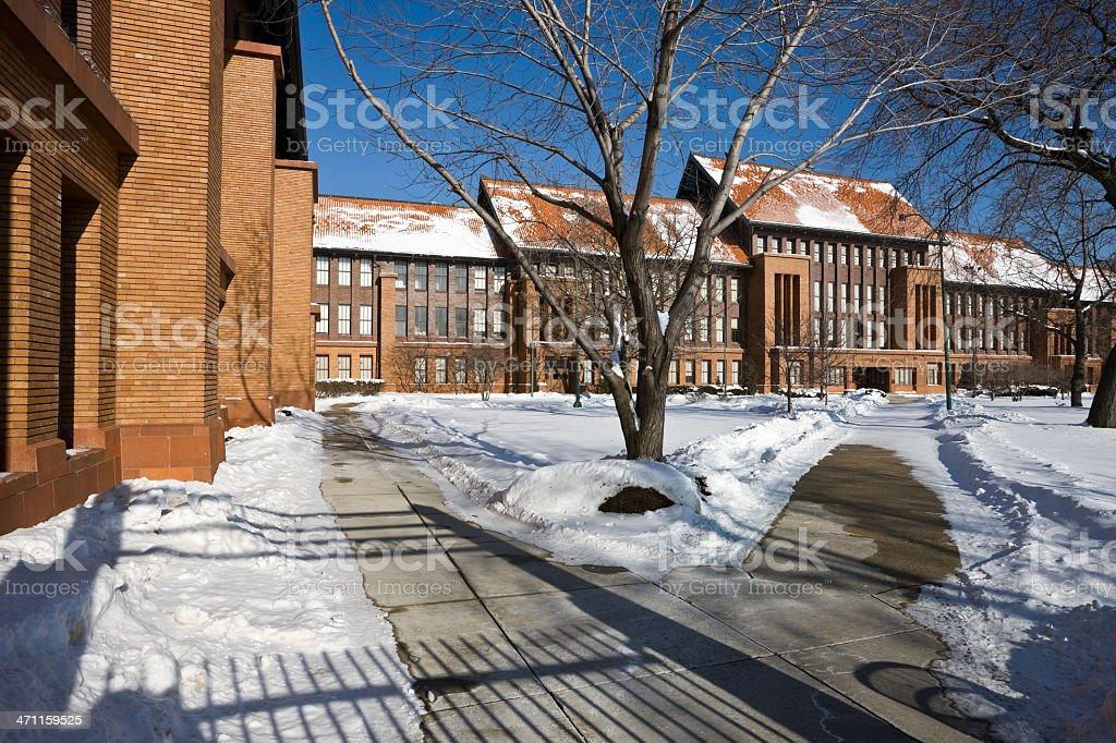 Chicago Landmark High School stock photo