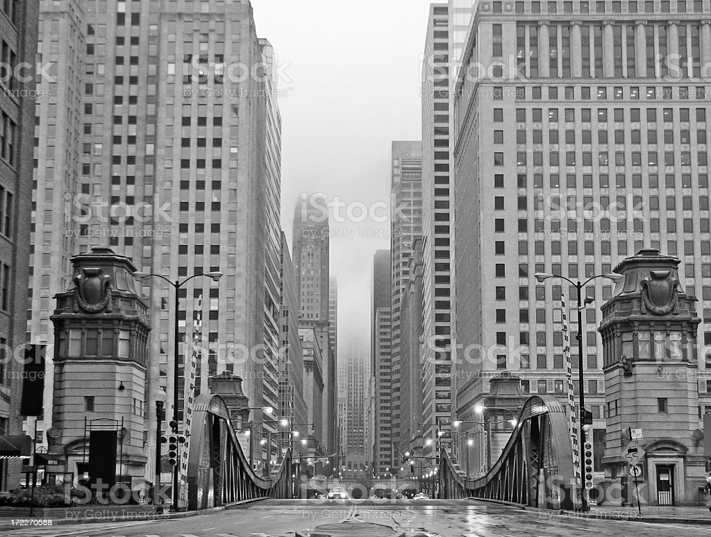 Chicago LaSalle Boulevard Vintage 1920s stock photo