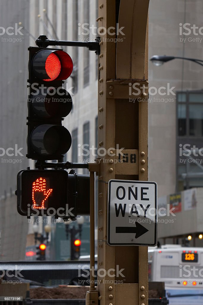 Chicago LED Signals royalty-free stock photo