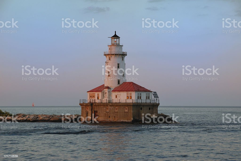 Chicago Lighthouse stock photo