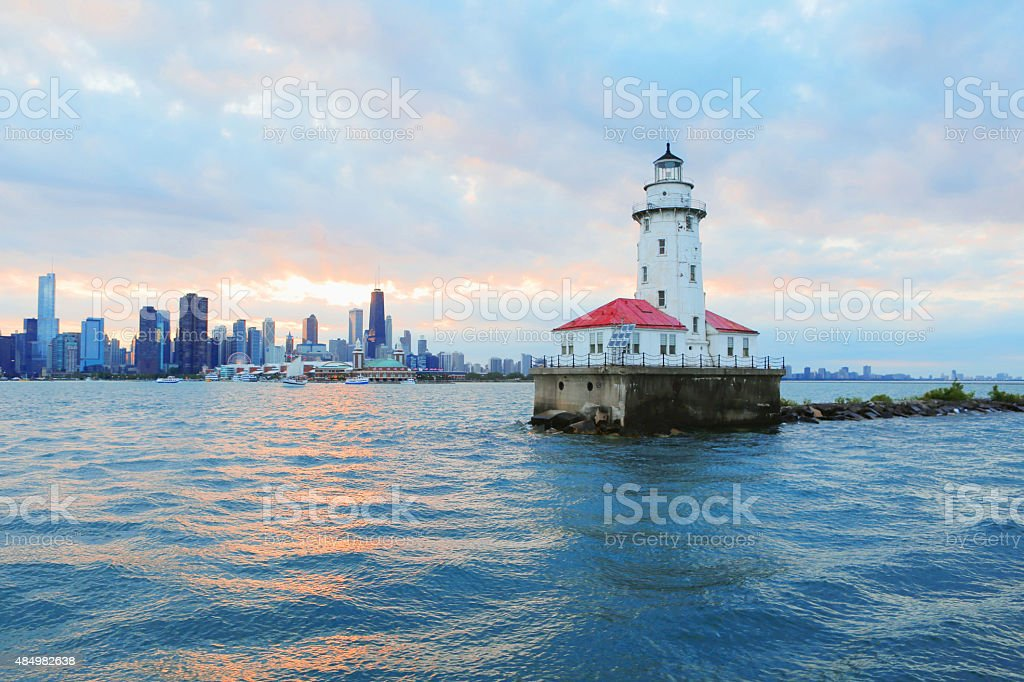 Chicago Lighthouse stock photo
