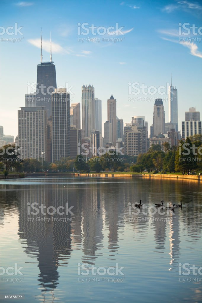 Chicago - Lincoln Park at Sunrise stock photo
