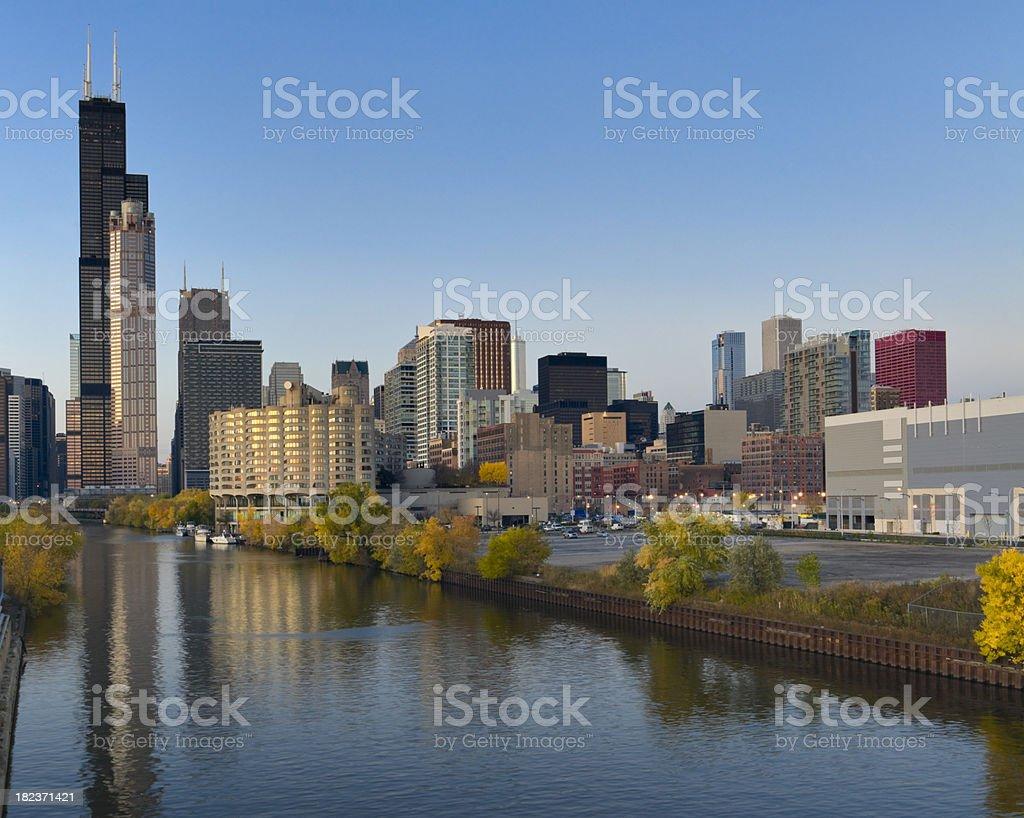 Chicago Loop at Dusk (XXXL) royalty-free stock photo