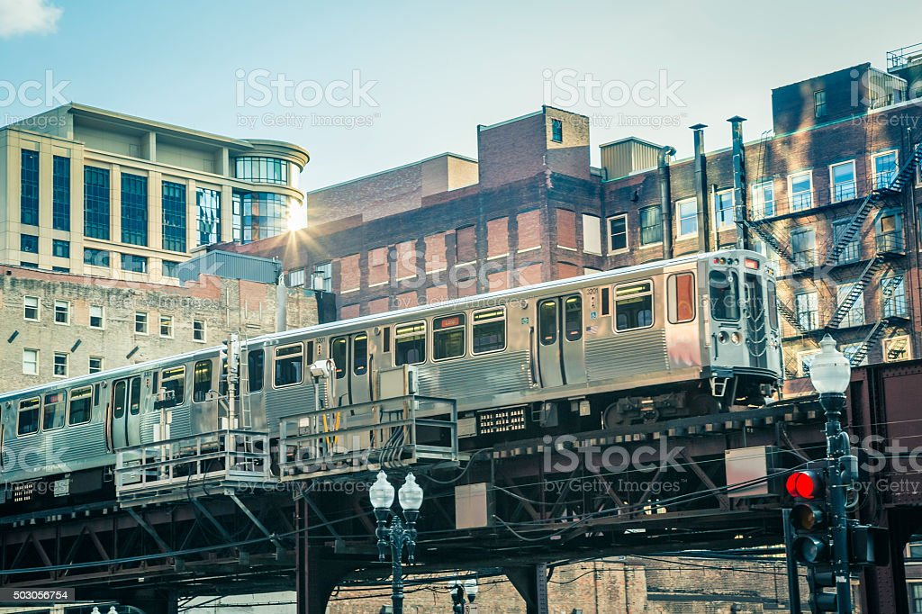 Chicago loop, Illinois stock photo