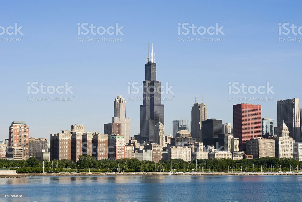 Chicago Loop Skyline stock photo