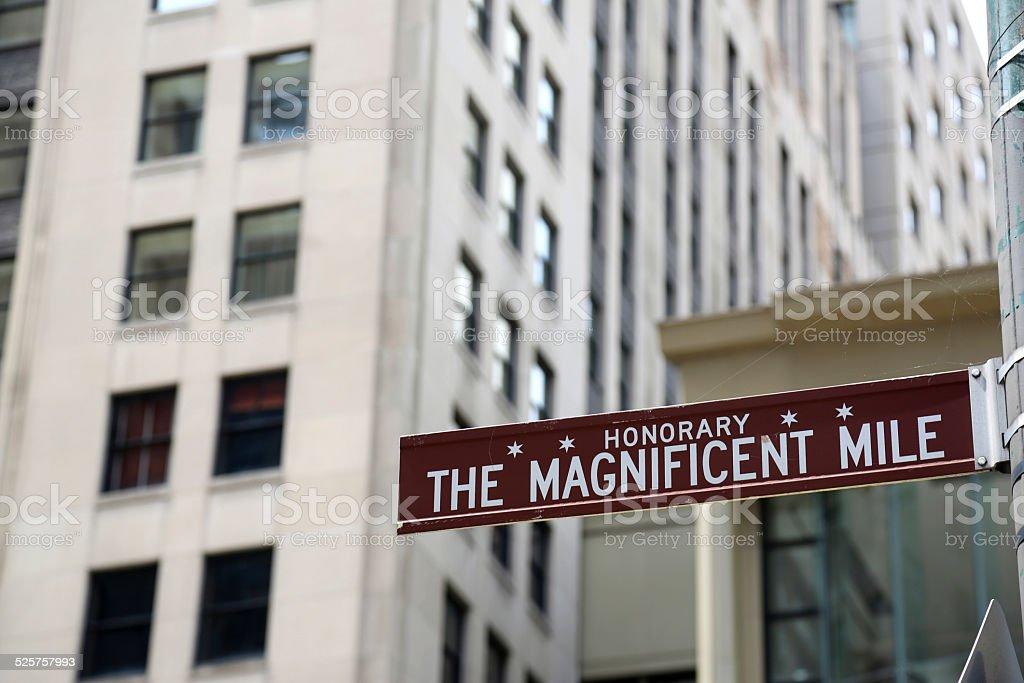 Chicago Magnificent Mile stock photo