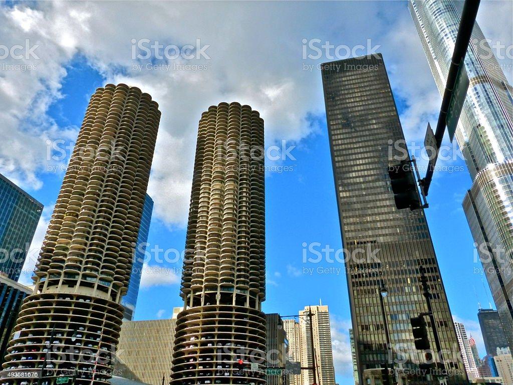 Chicago- Marina City Tower stock photo