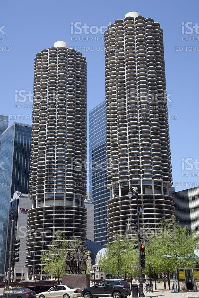 Chicago Marina Towers stock photo