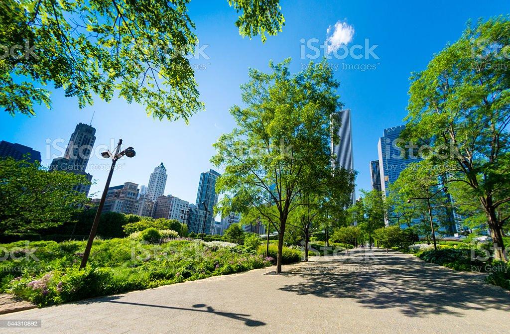 Chicago Millenium Park stock photo