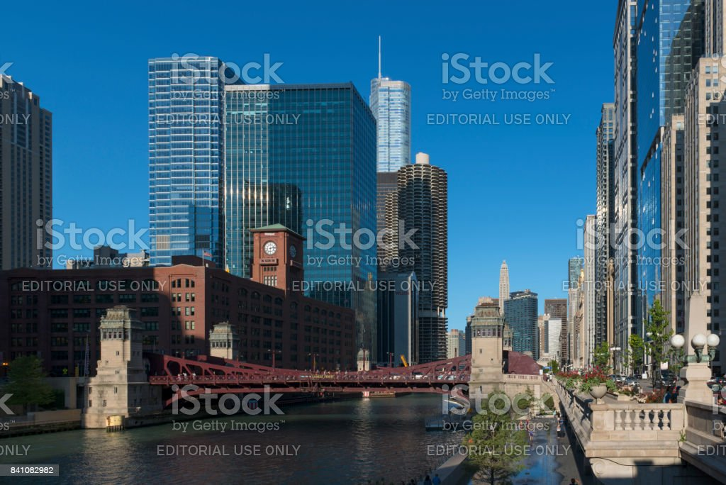 Chicago modern and historic architecture stock photo