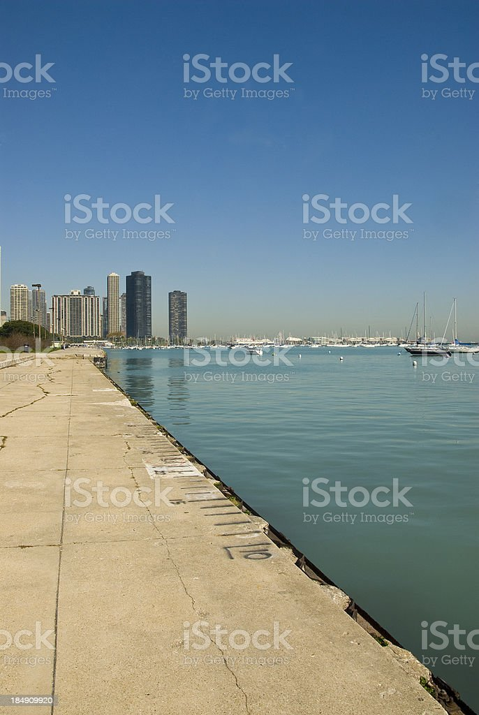 Chicago Monroe Harbor stock photo
