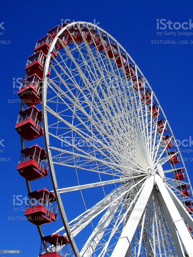 Chicago Navy Pier Ferris Wheel Empty on Sunny Summer Day royalty-free stock photo
