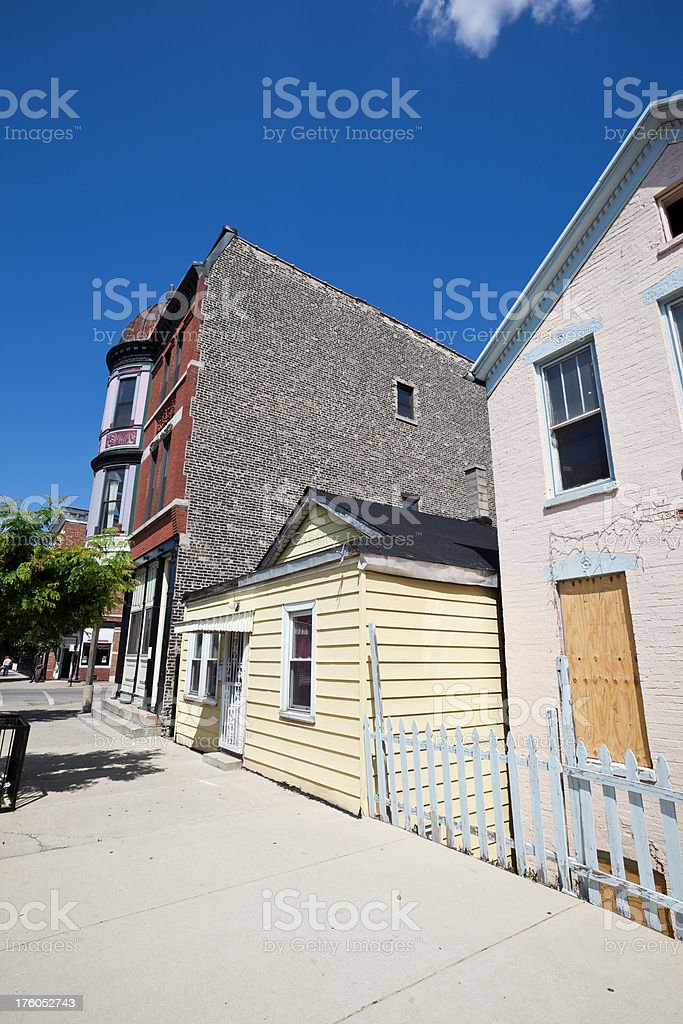 Chicago Neighborhood Street stock photo
