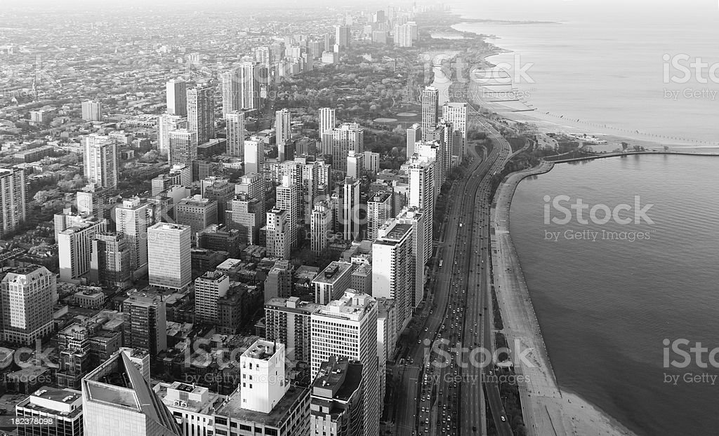Chicago - North Side at Sunset royalty-free stock photo