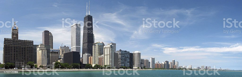 Chicago North Skyline Panorama royalty-free stock photo