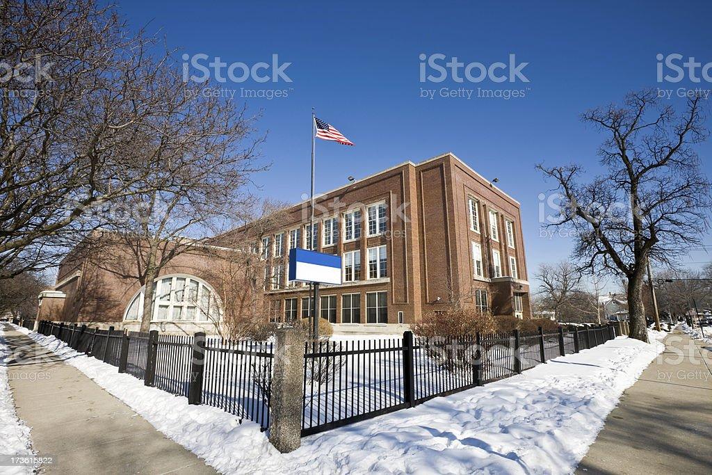 Chicago Northwest Side School stock photo