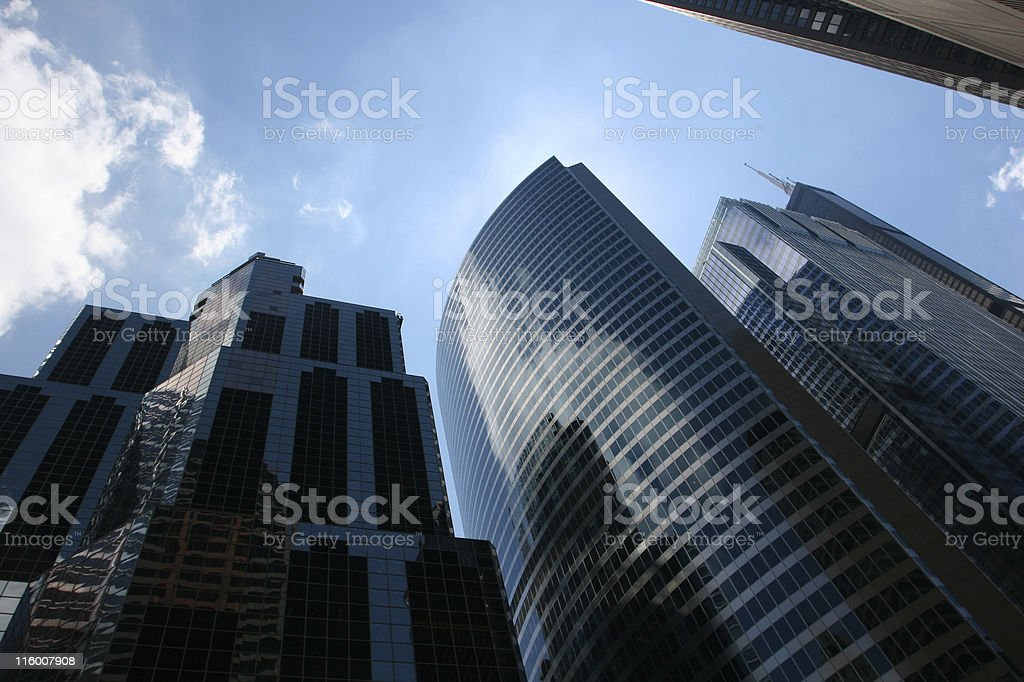 Chicago Office Buildings royalty-free stock photo