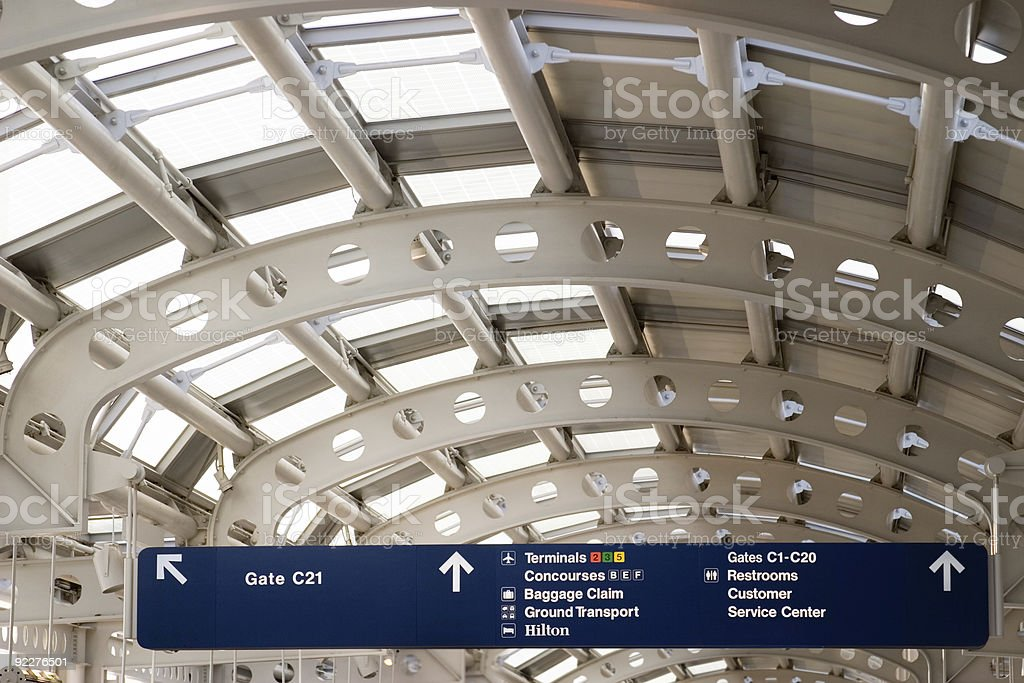 Chicago O'hare Airport Terminal royalty-free stock photo
