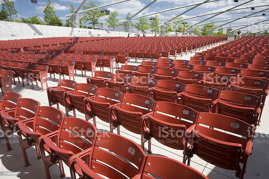 Chicago Open Air Concert Pavilion royalty-free stock photo