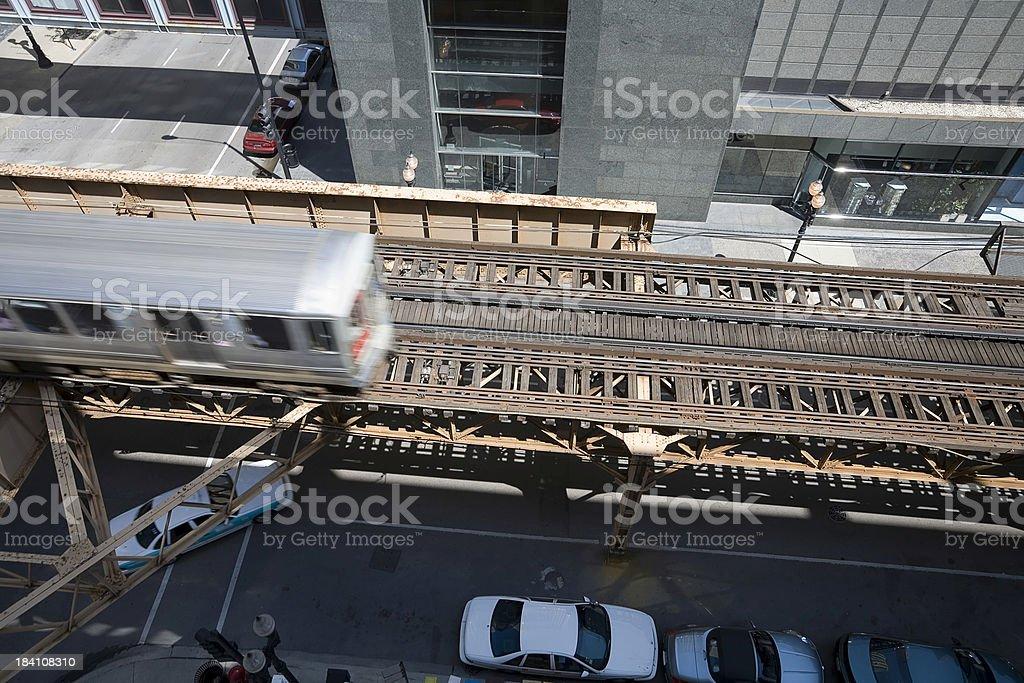 Chicago Overhead Transportation royalty-free stock photo