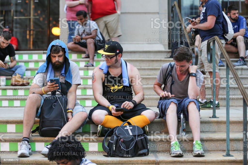 Chicago Pokemon Go festival stock photo