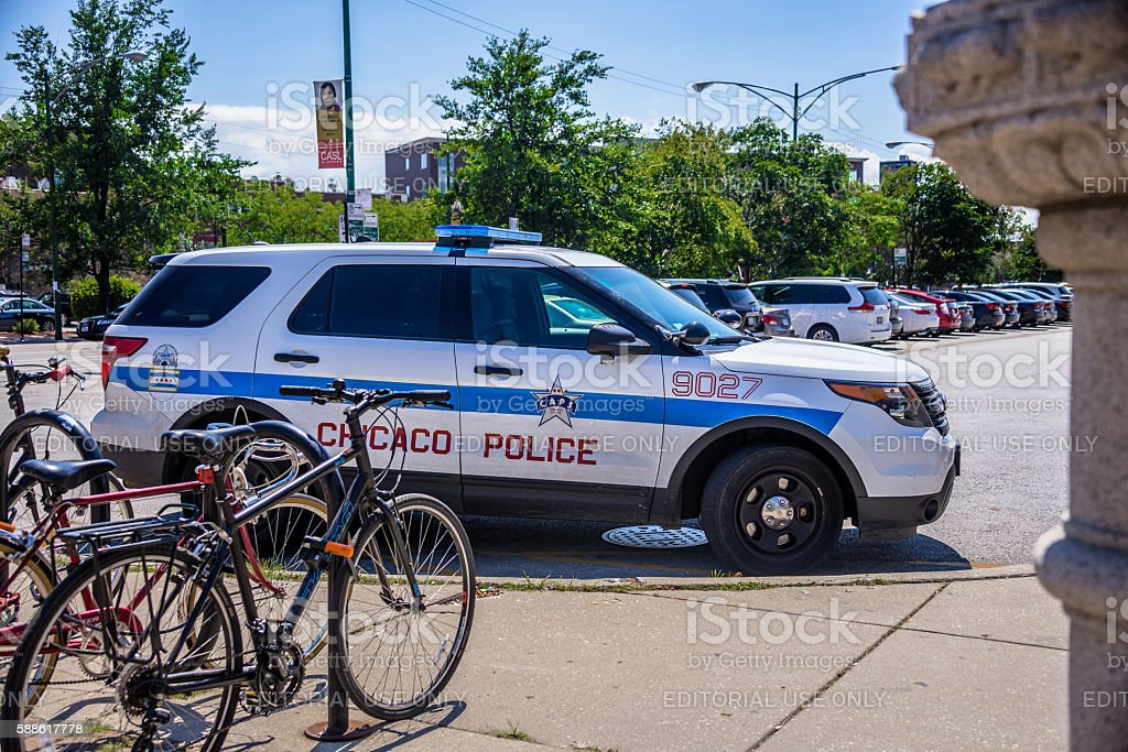 Chicago Police SUV stock photo