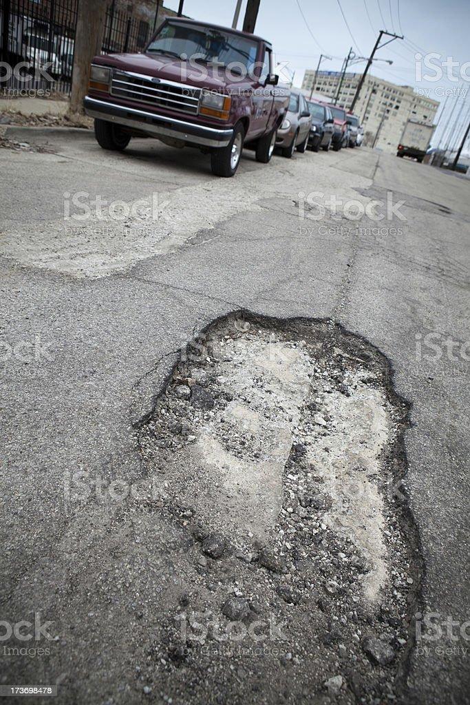 Chicago Pot Hole royalty-free stock photo