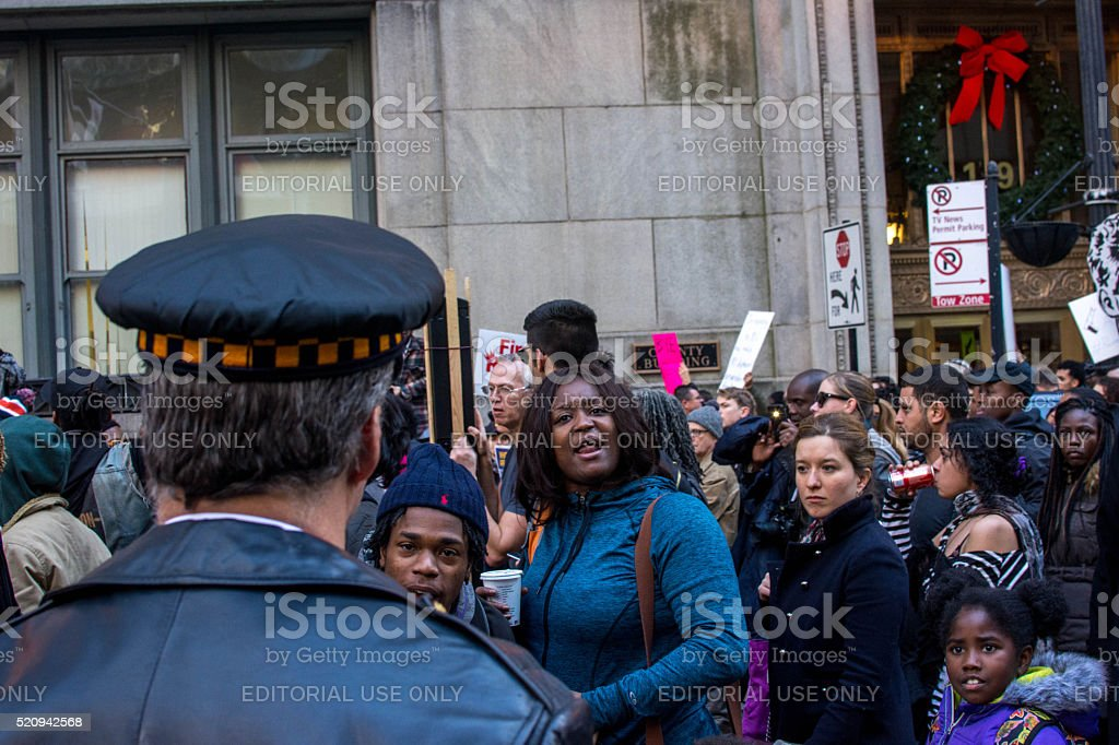 Chicago Protests stock photo