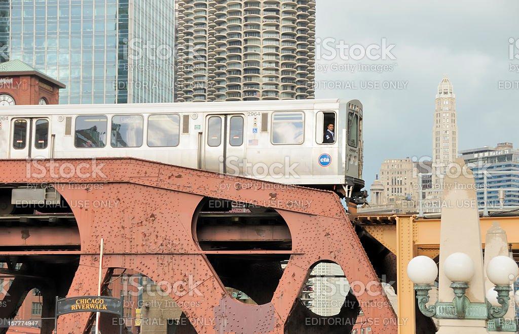 Chicago Public Transit Authority stock photo