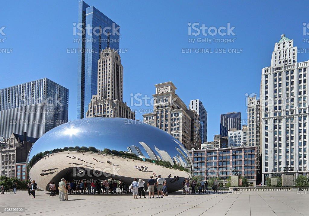 Chicago reflective bean stock photo
