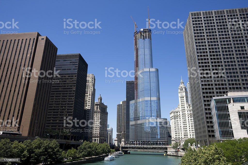 Chicago River Architecture stock photo