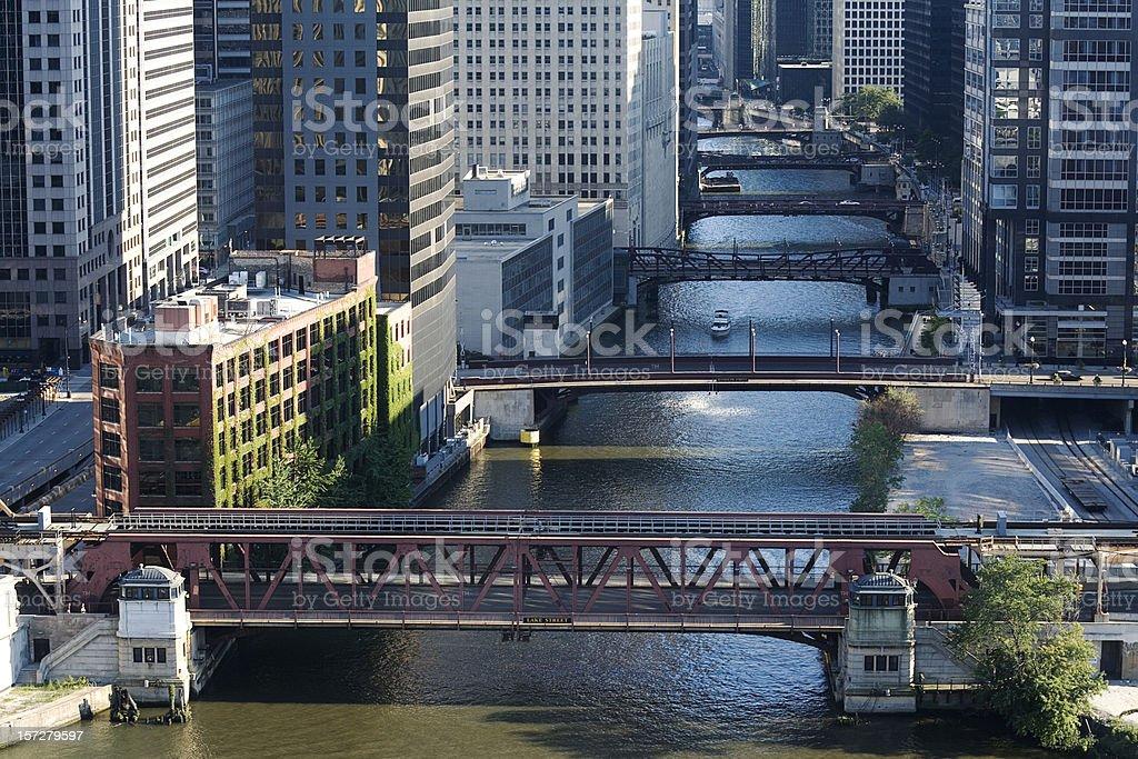 Chicago River Bridges royalty-free stock photo