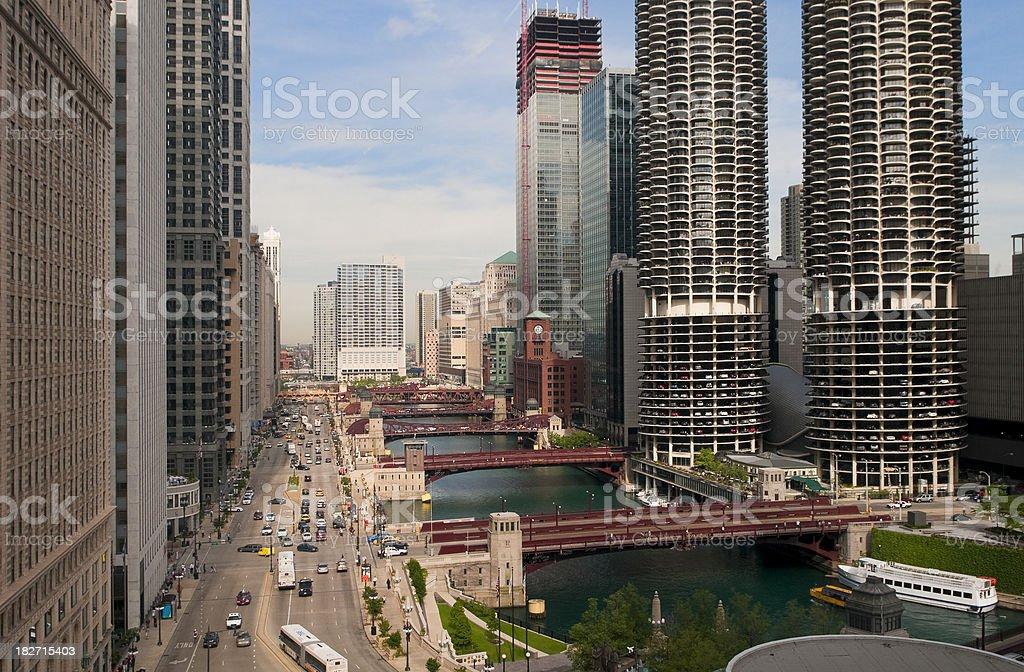 Chicago River Corridor stock photo