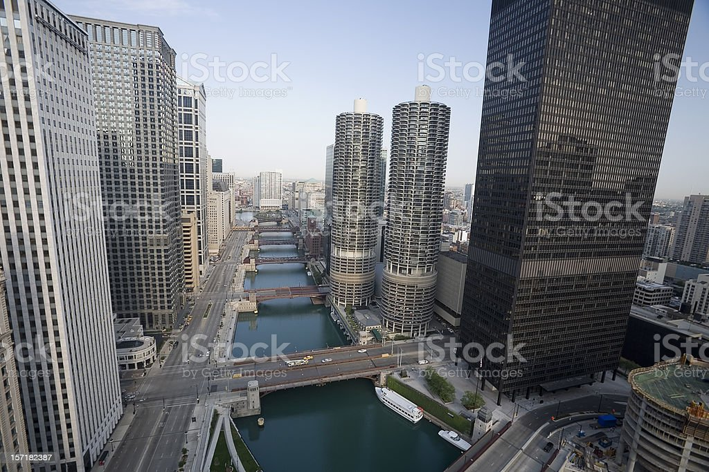 Chicago River from Above royalty-free stock photo