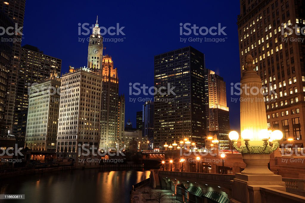 Chicago River, IL royalty-free stock photo