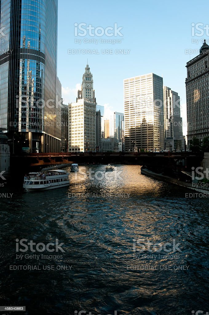 Chicago River royalty-free stock photo