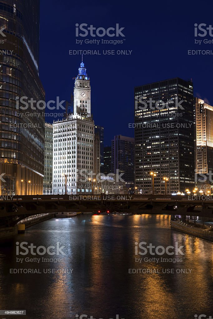 Chicago RIver stock photo