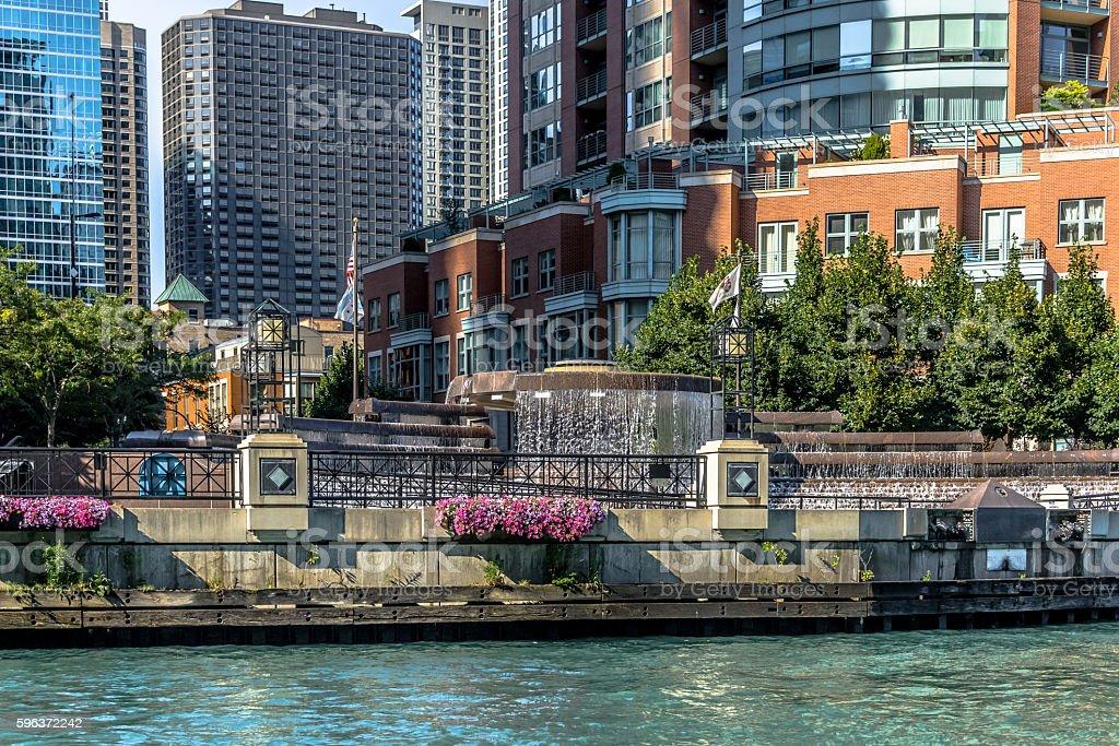Chicago River River Esplanada Park stock photo