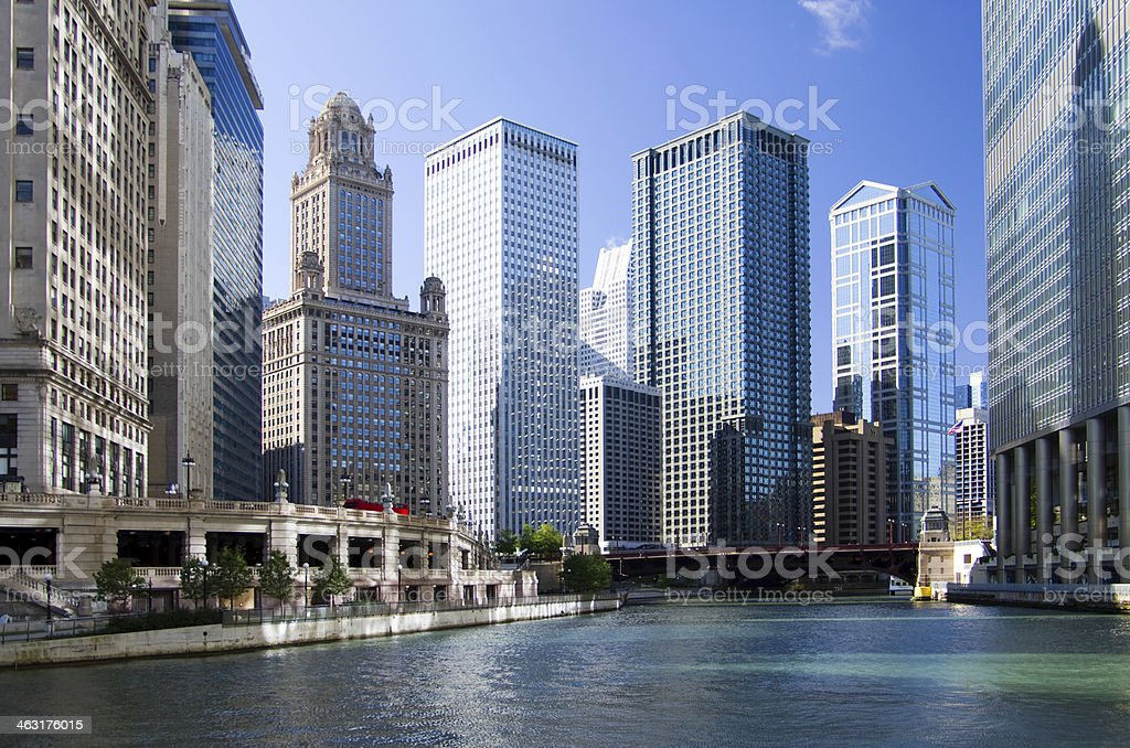Chicago River View stock photo