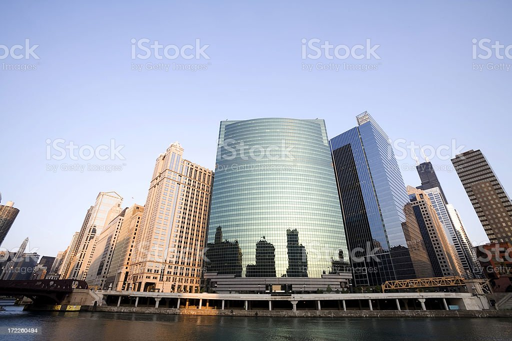 Chicago Riverfront Landmark royalty-free stock photo