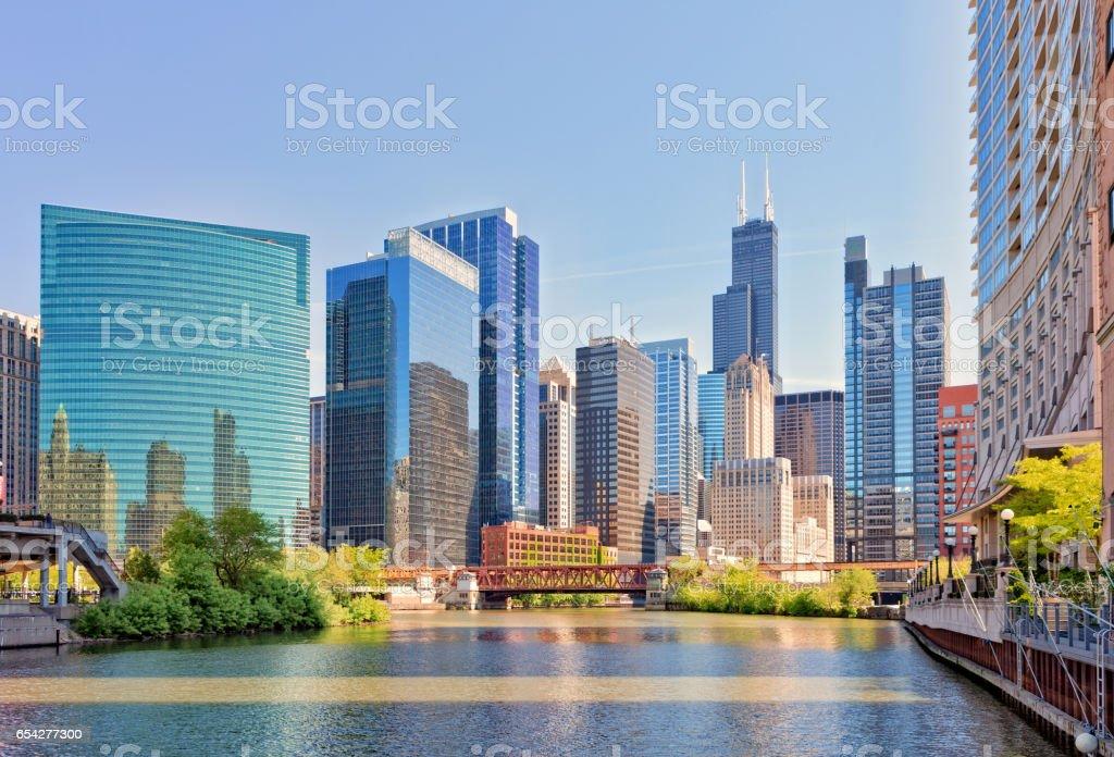Chicago Riverside stock photo
